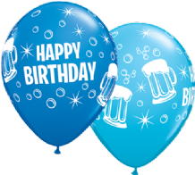 Birthday Beer Mugs - 11 Inch Balloons 25pcs